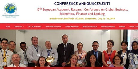 15th European Academic Research Conference on Global Business, Economics, Finance and Banking (GVC) Tickets