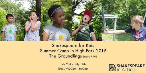 Shakespeare for Kids Summer Camp 2019 - The Groundlings