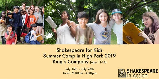 Shakespeare for Kids Summer Camp 2019 - King's Company