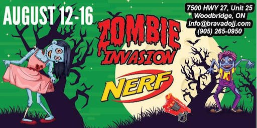 Zombie Invasion NERF Summer Camp