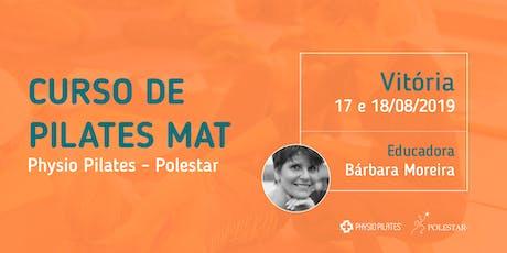 Curso de Pilates Mat - Physio Pilates Polestar - Vitória ingressos
