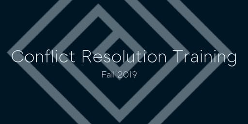 Conflict Resolution Training - Fall 2019