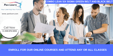 Combo Lean Six Sigma Green Belt and Black Belt Certification Training In Arnold, CA tickets