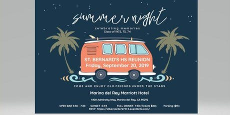 St Bernard Catholic High School Reunion Class of 72', 73', 74' tickets