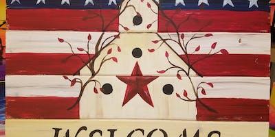 Americana Birdhouse BYO Paint & Sip