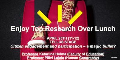 April Brown Bag Lunch Research Seminar