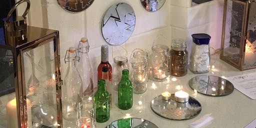 July Glass etching workshop (with cake!)