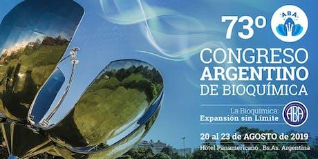 73º Congreso Argentino de Bioquímica entradas