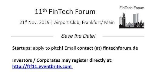 11th FinTech Forum | 21st Nov. 2019