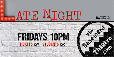 LATE NIGHT IMPROV (Fridays 10pm) (Apr-Jun) tickets