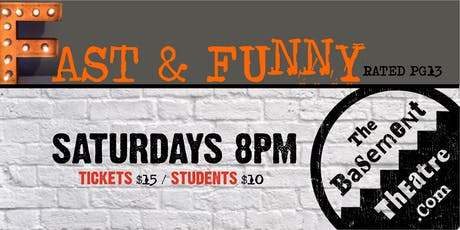 FAST & FUNNY - IMPROV (Saturdays 8pm) (AUG-OCT) tickets