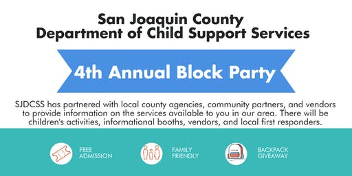 SJC Dept of Child Support Services 4th Annual Block Party