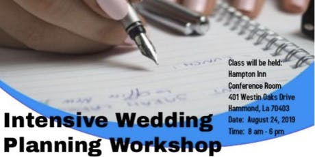 Intensive Wedding Planning Workshop tickets