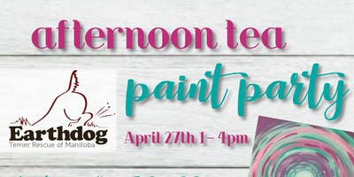 Afternoon Tea and Paint Party in Support of Earthdog Terrier Rescue