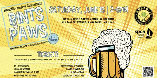 5th Annual Pints for Paws Homebrewing and Craft Beer Festival
