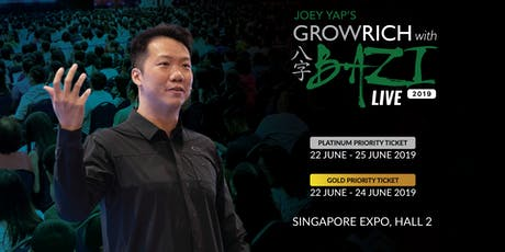 Joey Yap's Grow Rich with BaZi Live 2019 tickets