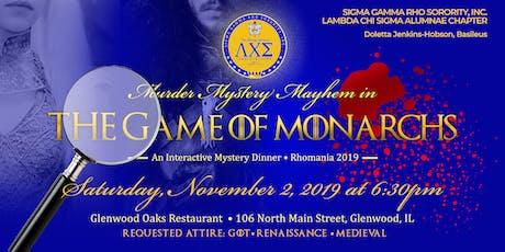 SGRho - Lambda Chi Sigma Alumnae - Murder Mystery Mayhem Rhomania 2019 tickets