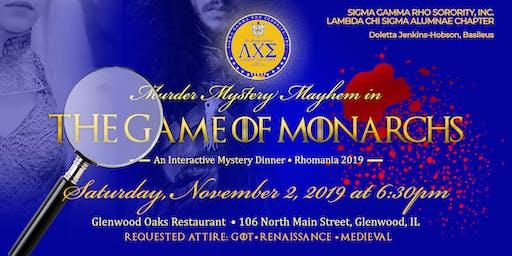 SGRho - Lambda Chi Sigma Alumnae - Murder Mystery Mayhem Rhomania 2019