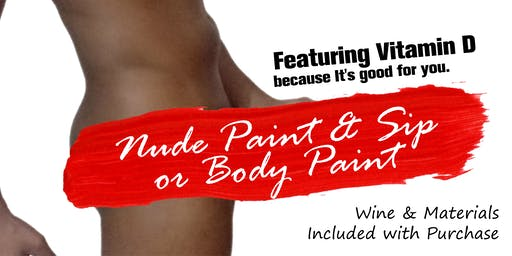 Nude Male Model for Sip & Paint or Body Paint