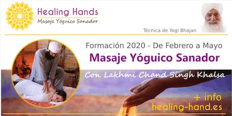 Formación Healing Hands - Masaje Yóguico Sanador entradas