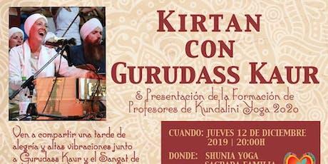Kirtan con Gurudass Kaur y Presentación Formación KY 2020 entradas