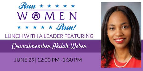 Lunch With a Leader: Akilah Weber tickets
