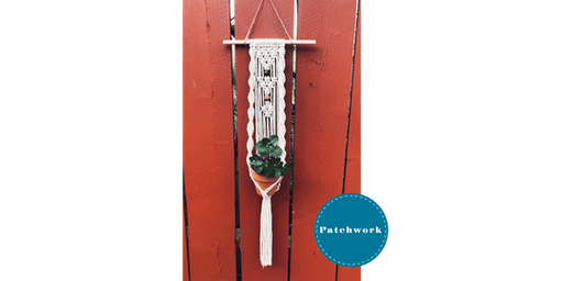 Patchwork Presents  Macrame Twisted Plant Hanger