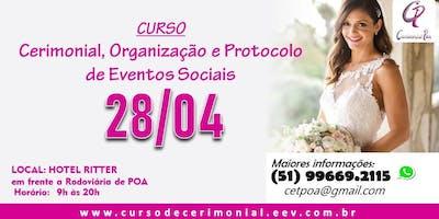 Curso de Cerimonial e Organização de Eventos - Domingo