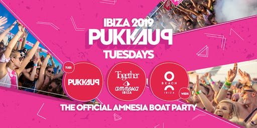 Pukka Up - Tuesday Sunset Boat Party with Together at Amnesia