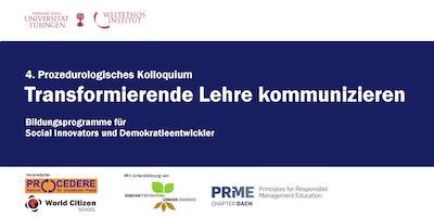 4. Prozedurologisches Kolloquium: Transformierende Lehre kommunizieren
