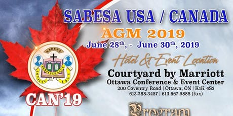 SABESA CAN'19 Banquet and gala tickets