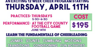 FUNdamentals Cheer Team- 12 week program with a performance!!