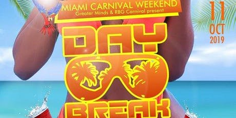 Miami Carnival DayBreak Miami Cooler Fete Edition 2019 tickets