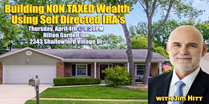 Building NON TAXED Wealth Using Self-Directed IRA's...