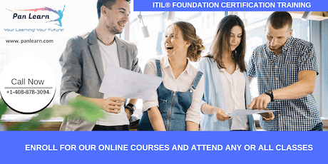 ITIL Foundation Certification Training In Lemoore, CA tickets