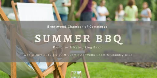 Summer Barbecue 2019 with Exhibitor Stands & Networking