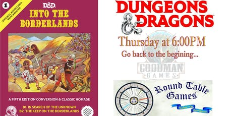 Dungeons & Dragons 5e Thursdays at Round Table Games tickets
