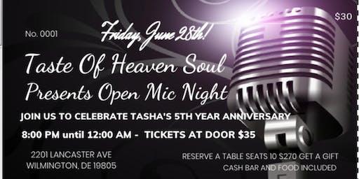 Taste Of Heaven's Open Mic Night