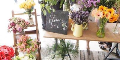 """Hello Boss Girl \""""Books & Blooms\"""" Spring Flower Bar"""