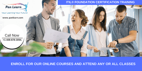 ITIL Foundation Certification Training In Jamestown, CA tickets