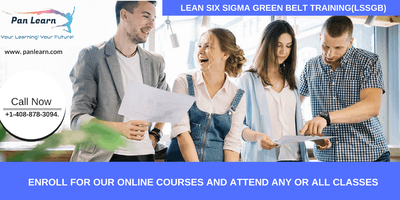 Lean Six Sigma Green Belt Certification Training In Pleasanton, CA