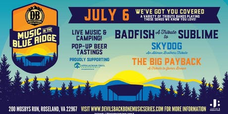 Music In The Blue Ridge w/Badfish - A Tribute to Sublime and special guests tickets