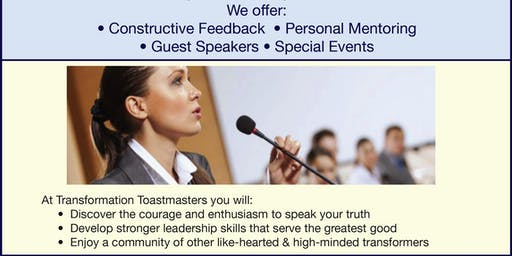 Transformation Speakers Toastmasters - Open House