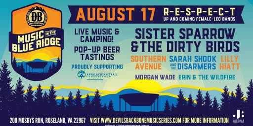 Music In The Blue Ridge w/Sister Sparrow,Southern Avenue,Sarah Shook & guests