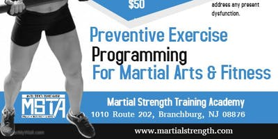 Preventive Exercise Programming for Martial Arts & Fitness