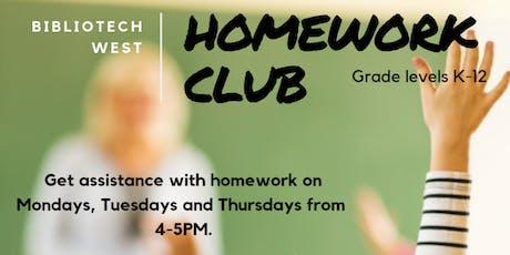 Homework Club tickets