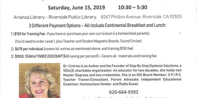 Southern CA Tri-Counties Branch of IDA Presents Dr.Marianne Cintron in a Full Day of S.P.I.R.E. Training