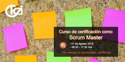 Curso de certificación como Scrum Master