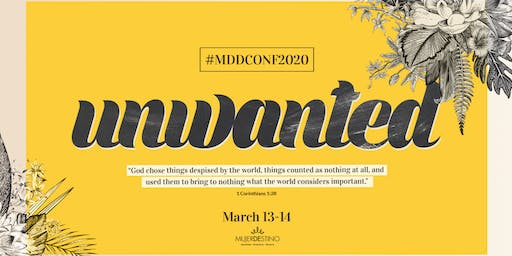 UNWANTED - MDD CONFERENCE 2020
