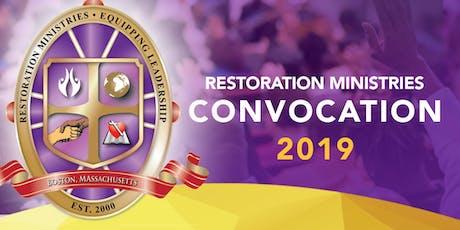 Restoration Ministries Convocation entradas